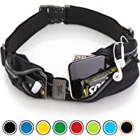 Sport2People Running Belt iPhone Pouch for Jogging, Walking, Fitness - Race Number Belt for Marathon Runners