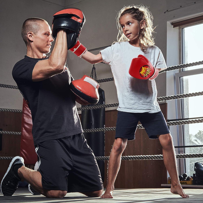 TUXHUI Kids Boxing Gloves for Kids Boys Girls Youth Age 5-12 Years Training Gloves for Punching Bag Kickboxing Muay Thai