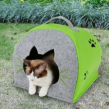 SX-ZZJ %Productos para Mascotas Invierno Mascota cálido Nido Gato Cama para Perros Casa