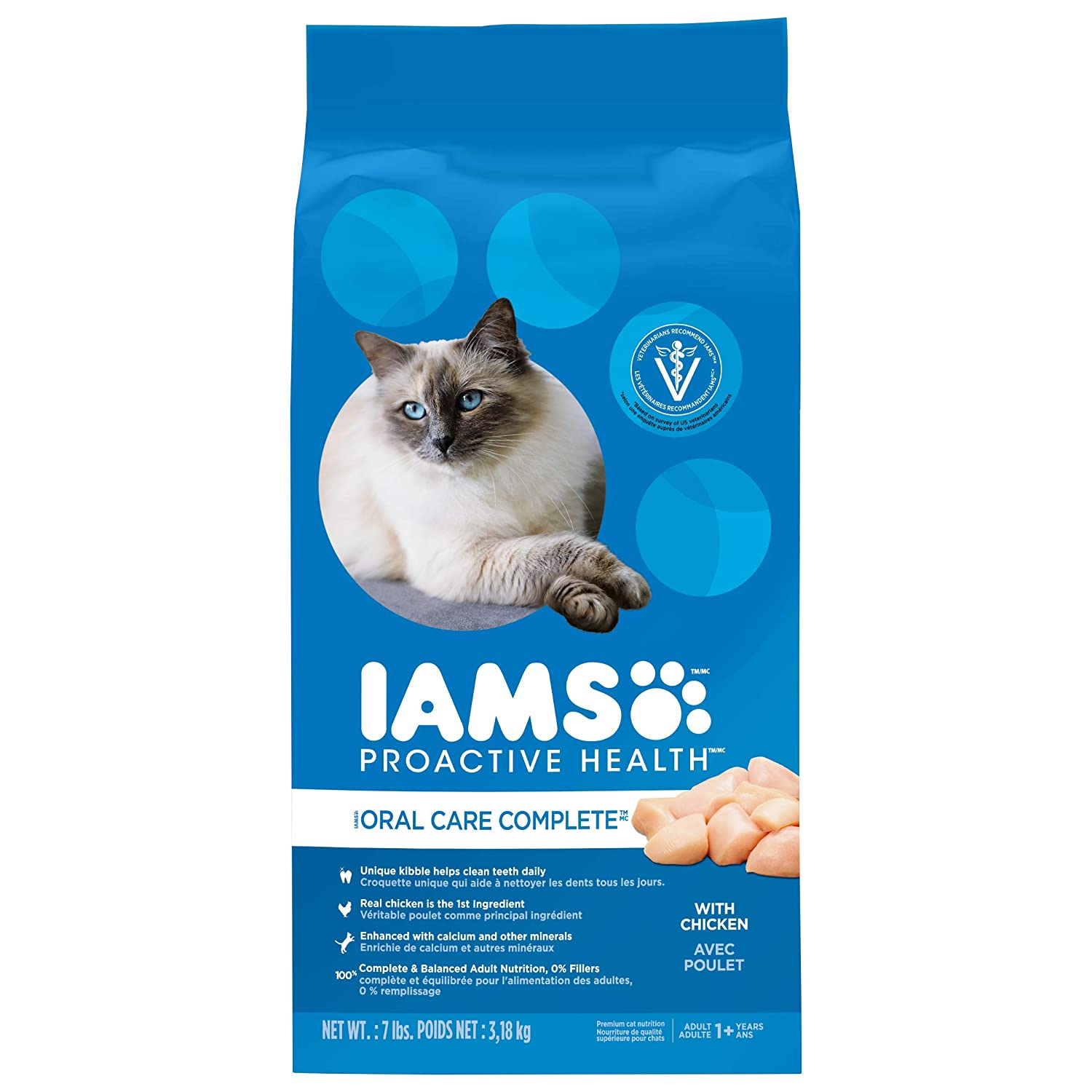 Iams Proactive Health Adult Cat Oral Care Chicken Dry Cat Food