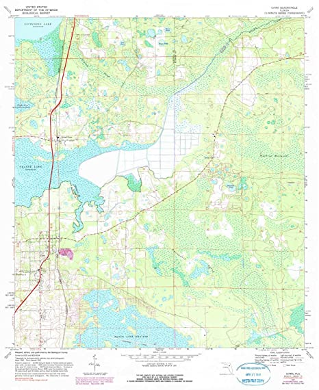 Amazon Com Yellowmaps Citra Fl Topo Map 1 24000 Scale 7 5 X 7 5