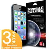 [HD CLARITY] Invisible Defender - Apple iPhone 5 / 5S / 5C Screen Protector Premium HD Crystal Clear Film with [3 PACK/Lifetime Replacement Warranty] High Definition Clarity Film The World's Best Selling Premium EXTREME CLEAR Screen Protector for Apple iPhone 5 / 5S / 5C