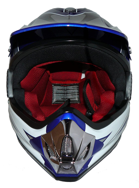 Taille: 3XS // Youth S MaX Racing Protectwear Casque de motocross pour enfants rouge // argent/é // blanc brillant 49//50 cm V310-RT