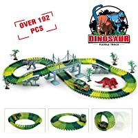 Deals on TAZHAI Dinosaur Toys 192Pcs Race Car Flexible Track