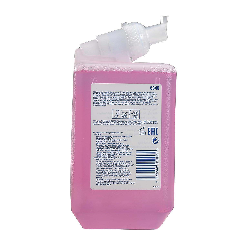 Scott 6340 Jabón de Manos en Espuma de Uso Diario 6 Estuches X 1 Litro, Rosa: Amazon.es: Industria, empresas y ciencia