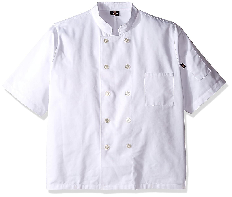 Unisex Classic 10 Button Short Sleeve Chef Coat-White