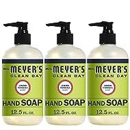 Mrs. Meyer's Clean Day Liquid Hand Soap, Lemon Verbena Scent, 12.5 fl oz (Pack of 3)