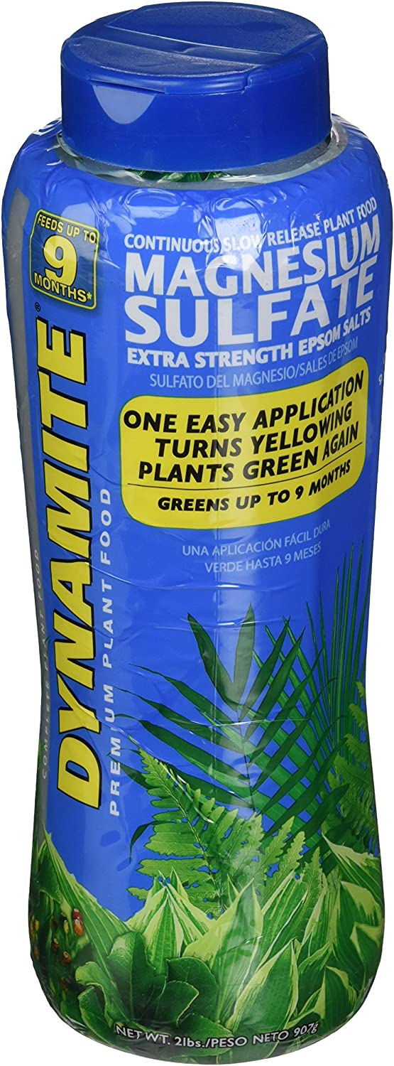 Dynamite 887770 Magnesium Sulfate Plant Food, 2-Pound