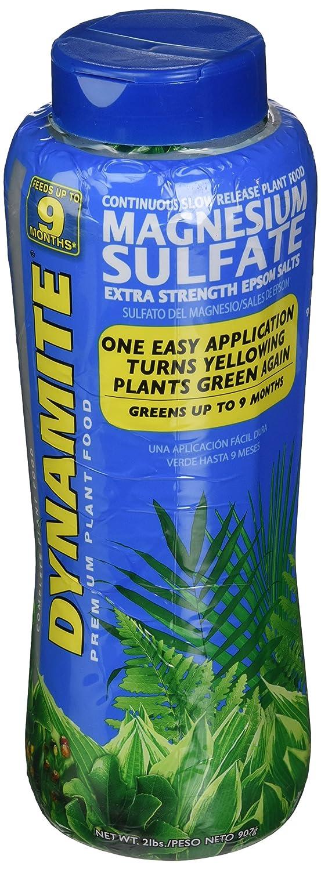 Amazon.com : Dynamite 887770 Magnesium Sulfate Plant Food, 2-Pound : Fertilizers : Garden & Outdoor