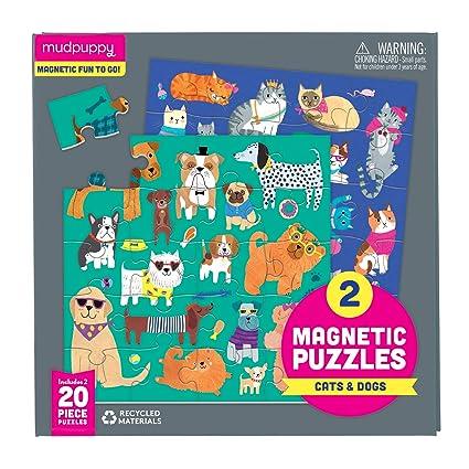 Amazon.com: Mudpuppy - Puzles magnéticos, diseño de gatos y ...
