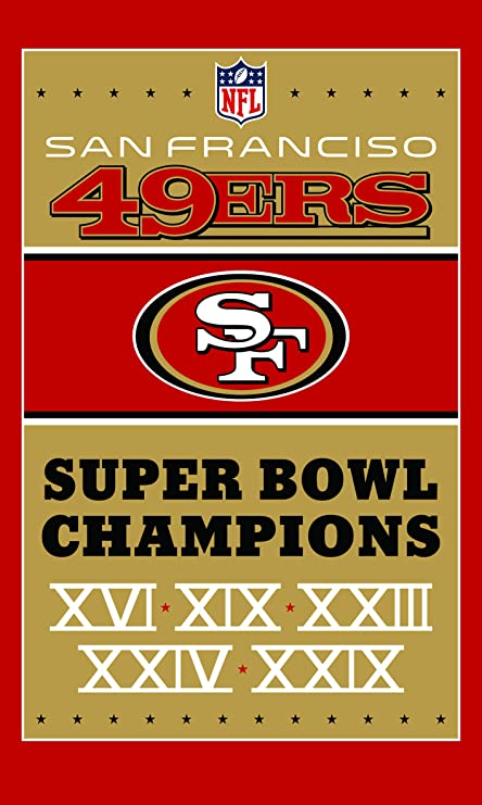 finest selection 51373 6057b RongJ- store NFL Super Bowl 3-Foot by 5-Foot 1994 2016 World Series San  Francisco 49ers Flag Banner Champion Flag (San Francisco 49ers)