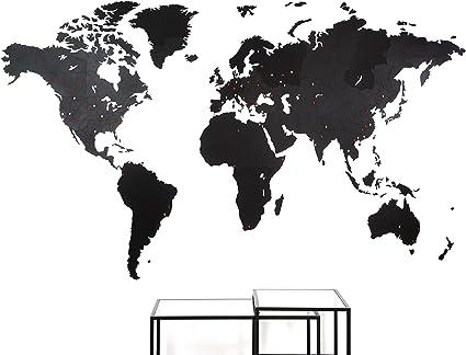 MiMi Innovations - Giant Decoración de pared de mapa del mundo de ...