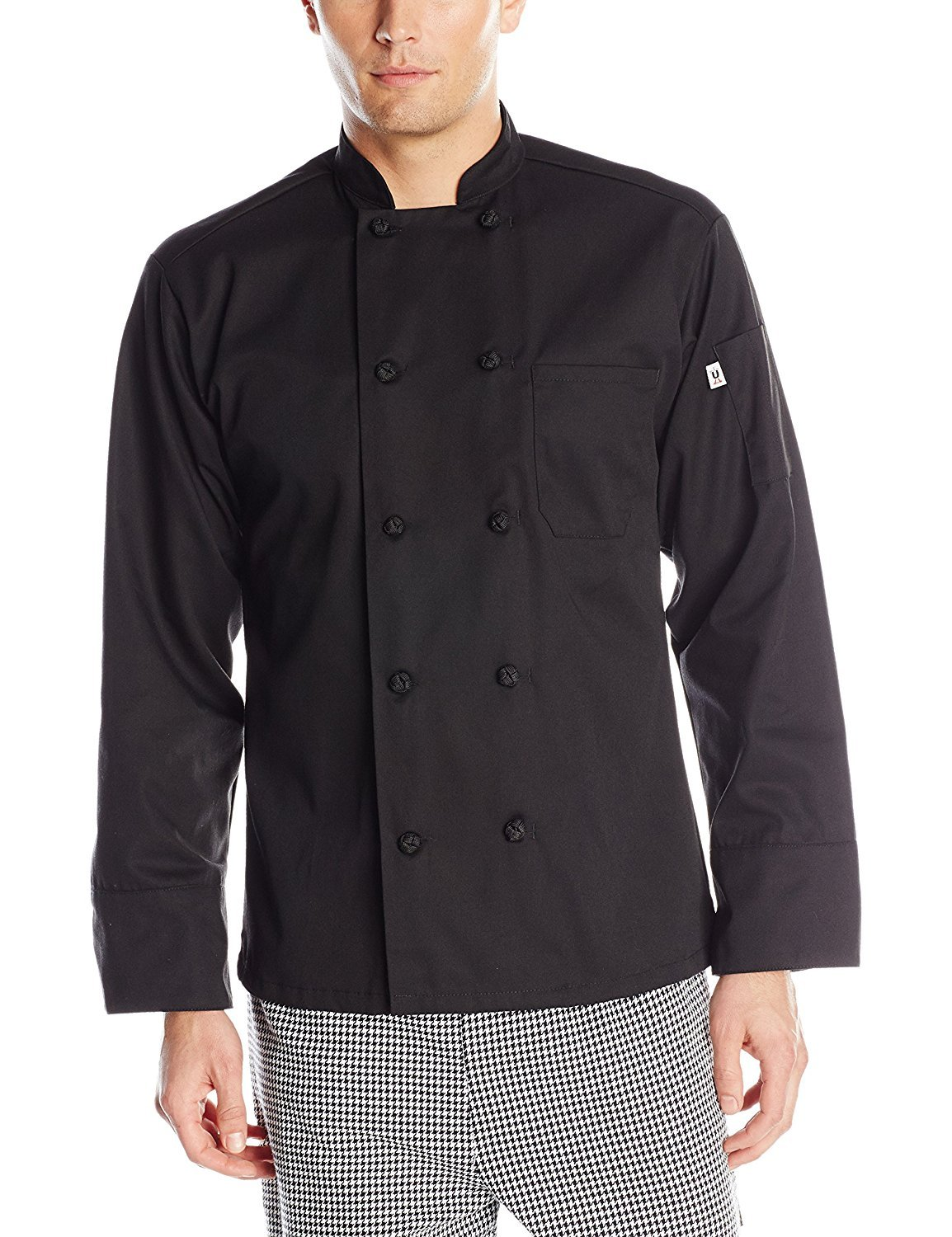 Uncommon Threads Unisex Classic Knot Button Chef Coat, White, X-Large