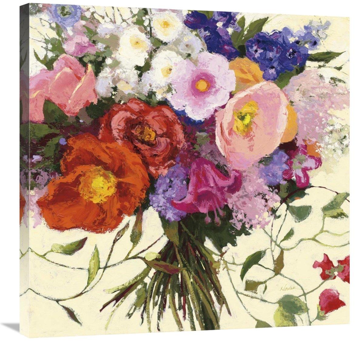 Global Gallery Shirley Novak Bouquet de Printemps Giclee Stretched Canvas Artwork 30 x 30