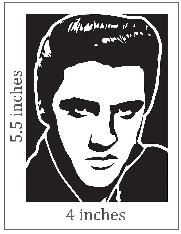 Amazon com elvis presley the king cut vinyl decal portrait sticker automotive