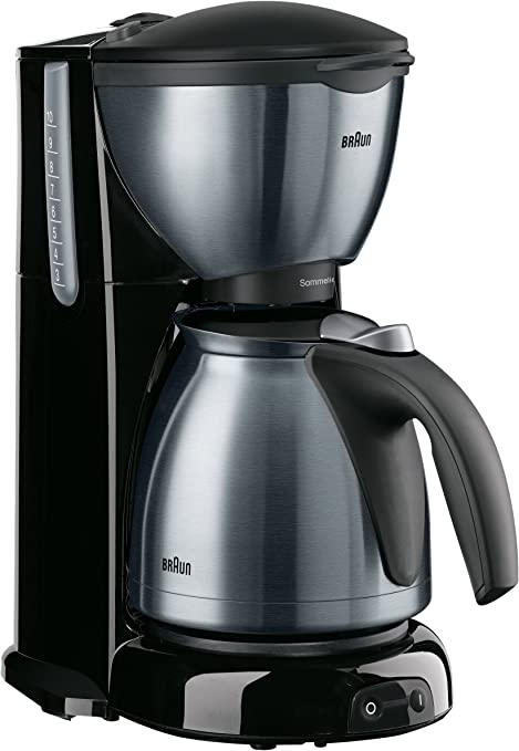 Braun 610/1 Sommelier Cafetera Goteo Kf 610 Metal Line, 1100 W, 1 Cups, Acero Inoxidable, Negro: Amazon.es: Hogar