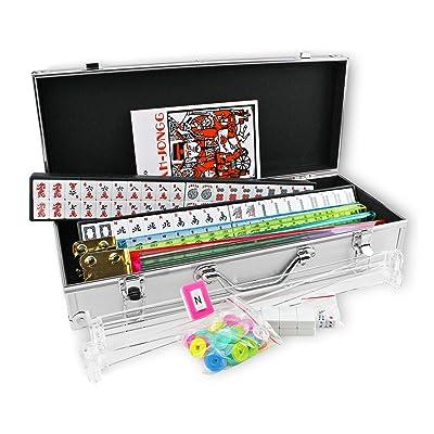 Kai Tai Inc 4 Pushers Complete American Mahjong Set in Aluminum Case, 166 Tiles(mah Jong Mah Jongg Mahjongg): Toys & Games