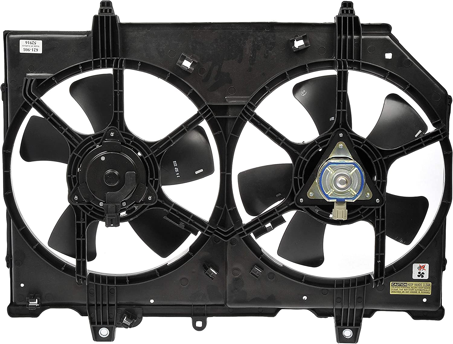 Dorman 621-908 Radiator Fan Assembly Without Controller for Select Nissan X-Trail Models