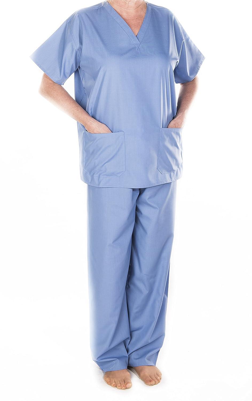 SOLICE. Médicos Veterinarios Scrub Túnica Top/túnicas, Hospital Uniforme, médicos, Workwear, Unisex, Verde, Azul Marino, Azul, XS, pequeño, Medio, Grande, ...