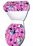 Disney Minnie Mouse Fleece Toilet Seat Cover Set