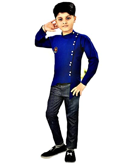 a8d58195224c Kashvi Boys Party wear Dress Pant and Shirt: Amazon.in: Clothing &  Accessories