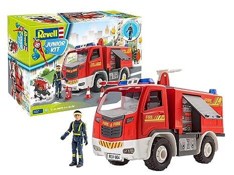 Baukästen & Konstruktion ab 4 Jahre REVELL 00819 Junior Kit Feuerwehrwagen mit Figur 1:20