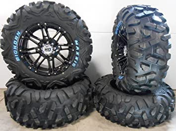 ITP Hurricane 14 Wheels Black 28 Blackwater Tires 4x156 Bolt Pattern 3//8x24 Lug Kit 9 Items Bundle