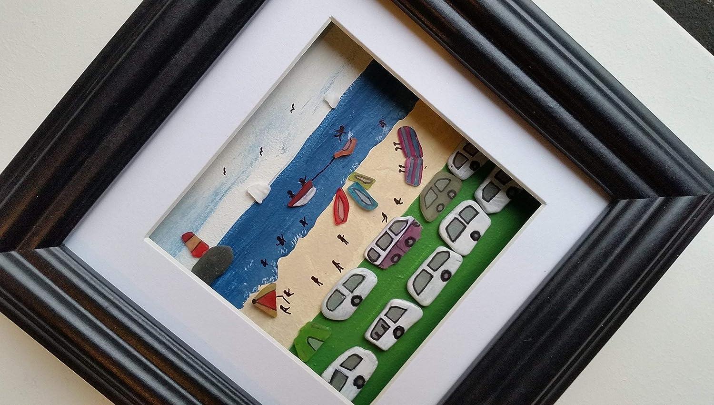 Summer Camping Beach Holiday Sea Glass Art