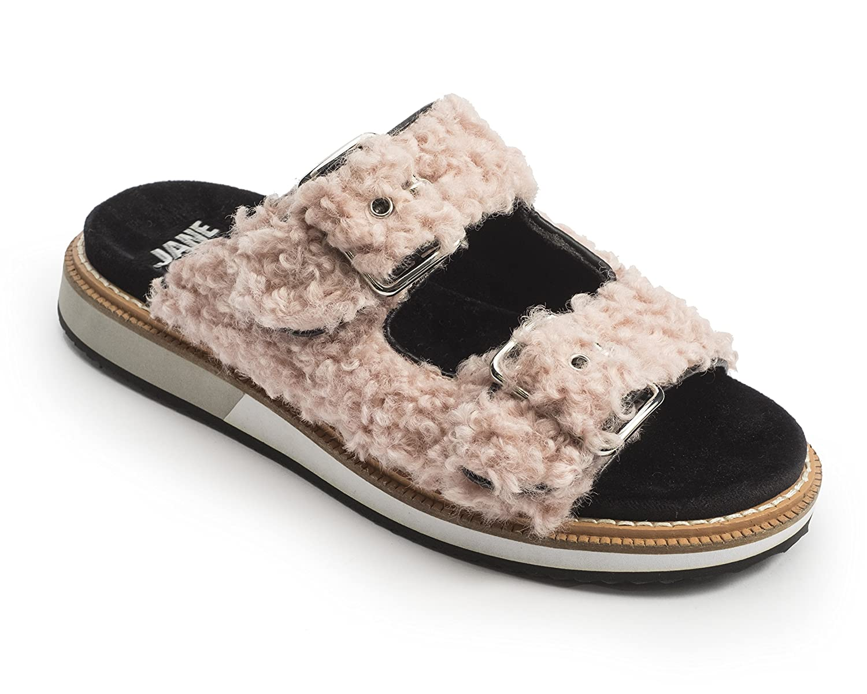 Jane and the Shoe Women's Kiki 2 Buckle Low Wedge Sandal B07DG29132 9 M US|Blush