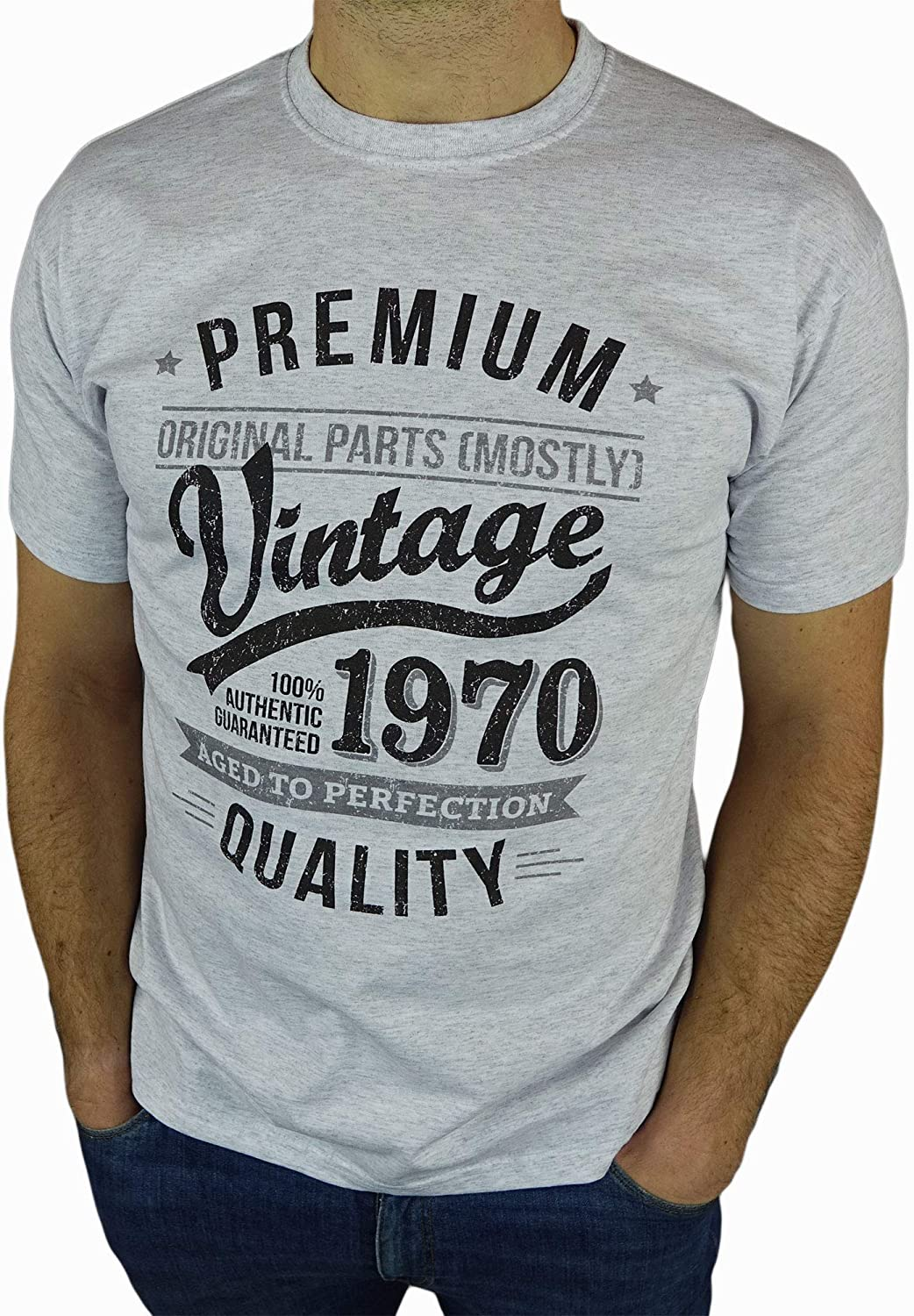 1970 Vintage Year Present Mens T-Shirt 50th Birthday Gift Aged To Perfection