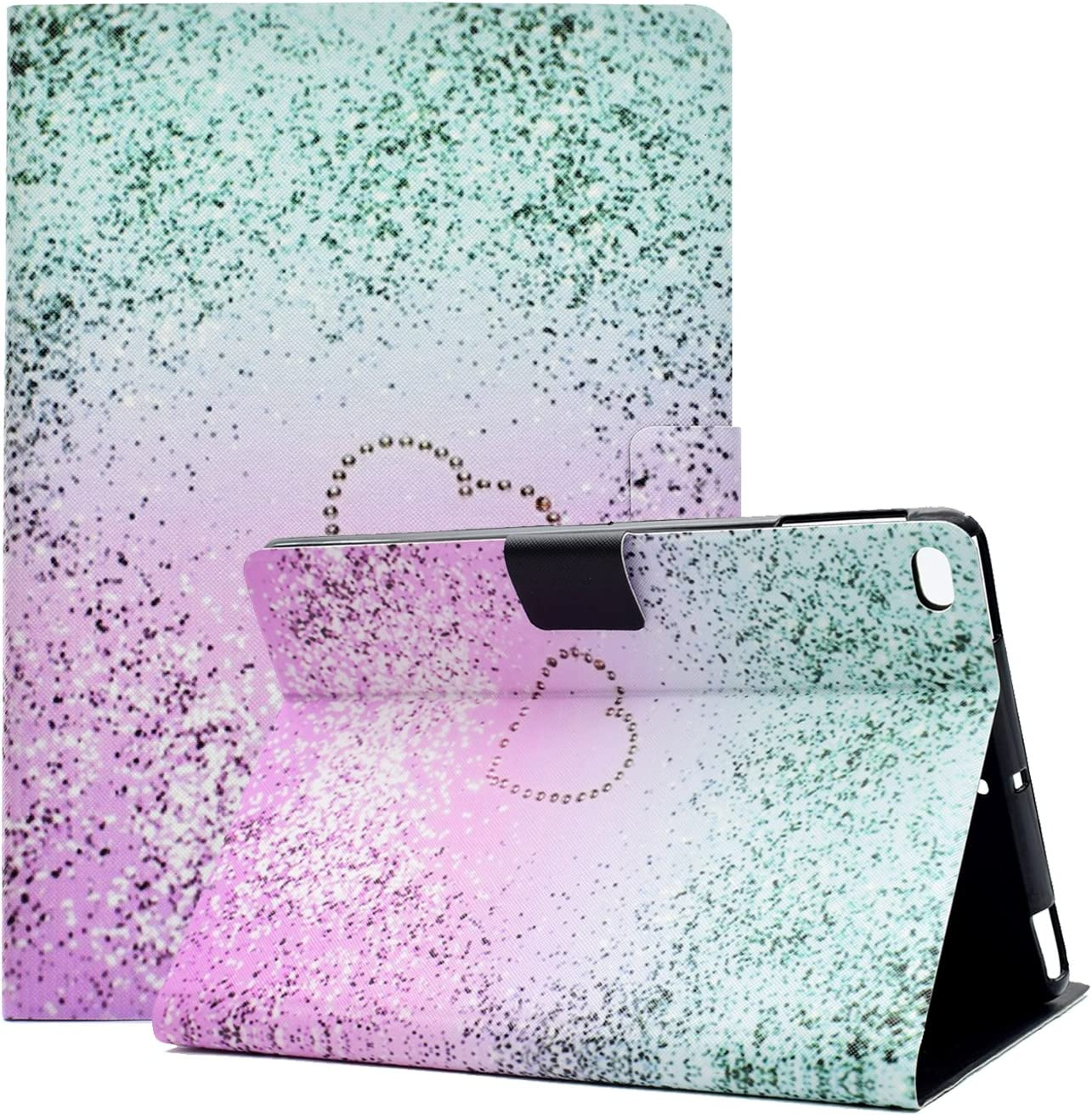 Anvas Case for iPad 9.7 2018/2017 - Slim Lightweight Smart Shell Standing Protective Cover with Auto Wake/Sleep Feature for Apple iPad 6th Gen/iPad 5th Gen 9.7 Inch Tablet,Lavender Aqua