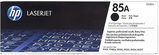 HP 85A - Tóner para impresoras láser (1600 páginas, Laser, HP, 10-32.5 °C, 20-80%, -20-40 °C) Negro: Hp: Amazon.es: Oficina y papelería