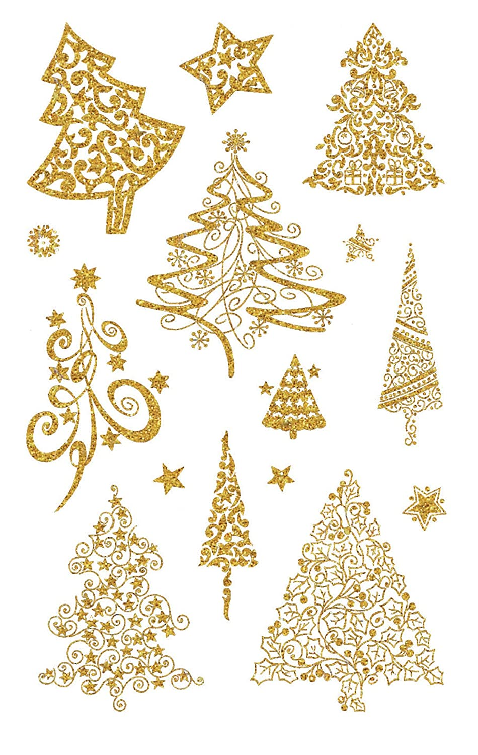 Avery 52273 Christmas Stickers, 30 Stickers, Christmas Trees Avery Zweckform SC-MS-52273