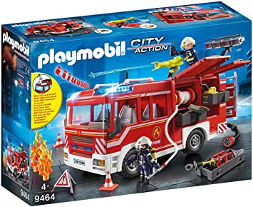 Oferta amazon: PLAYMOBIL City Action Camión de Bomberos con Luces y Sonido, a Partir de 4 Años (9464)