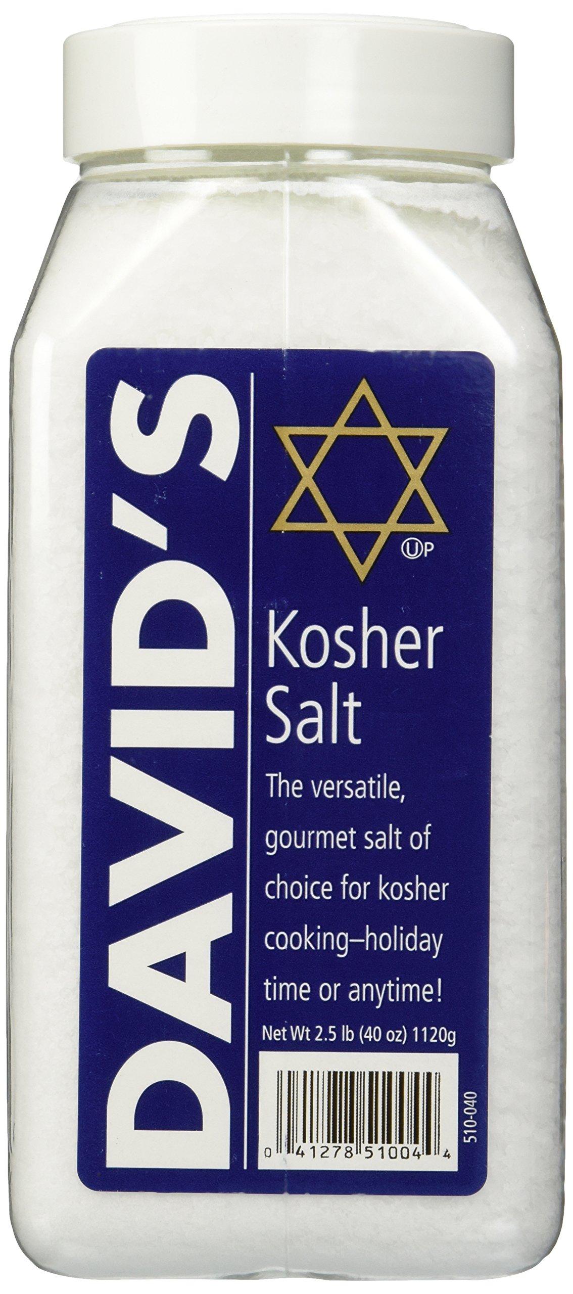 David's Kosher Salt 2.5 Pounds (40 Ounces)