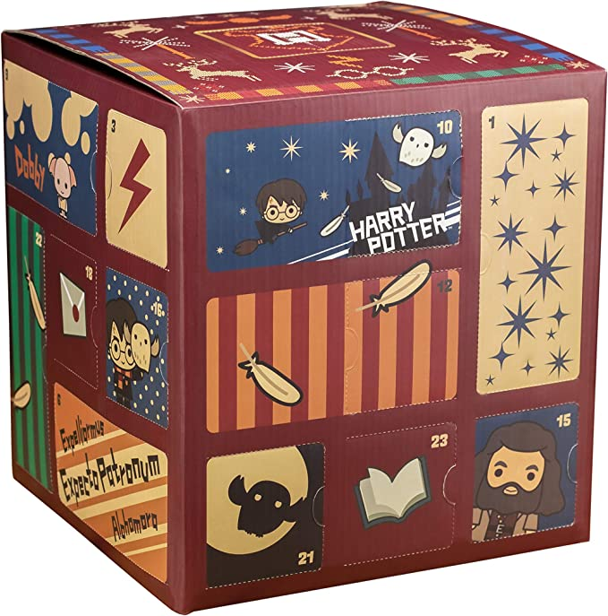 Amazon.com: Paladone PP6239HP Harry Potter Advent Calendar Cube with 24 Gifts, Christmas Countdown Toy: Toys & Games