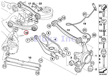 Amazon Com Bmw Oem Control Arm With Bushings Guide Rod Rear Right