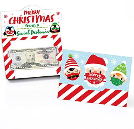 LOT OF gift card holders cards W envelopes Merry Christmas /& Santa Money 2