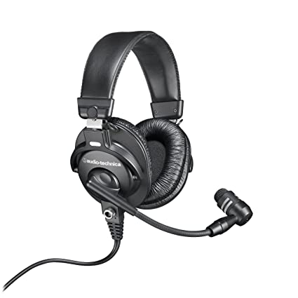 503ad8fee5d Amazon.com: Audio-Technica BPHS1 Broadcast Stereo Headset with Dynamic  Cardioid Boom Mic: Musical Instruments