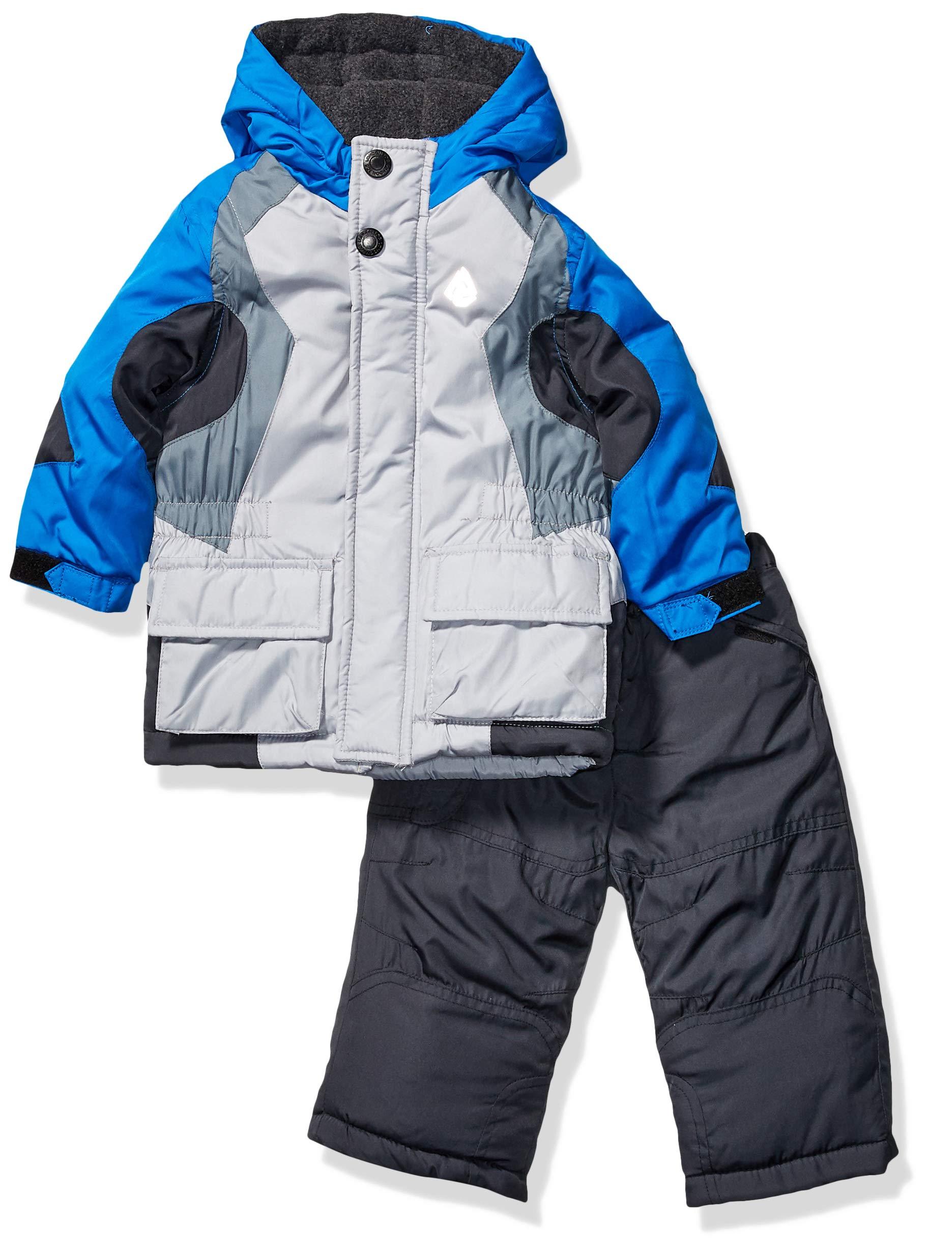 London Fog Baby Boys 2-Piece Snow Pant & Jacket Snowsuit, Blue and Pants, 18MO by London Fog