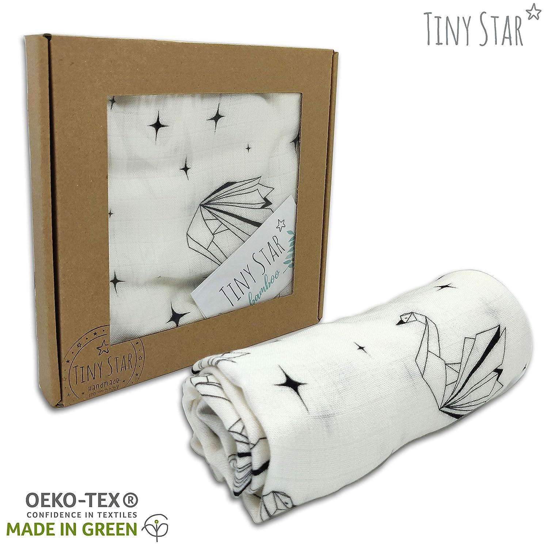 TINY STAR: Delicado Cuadrados de Muselina de Bambú paños de ...