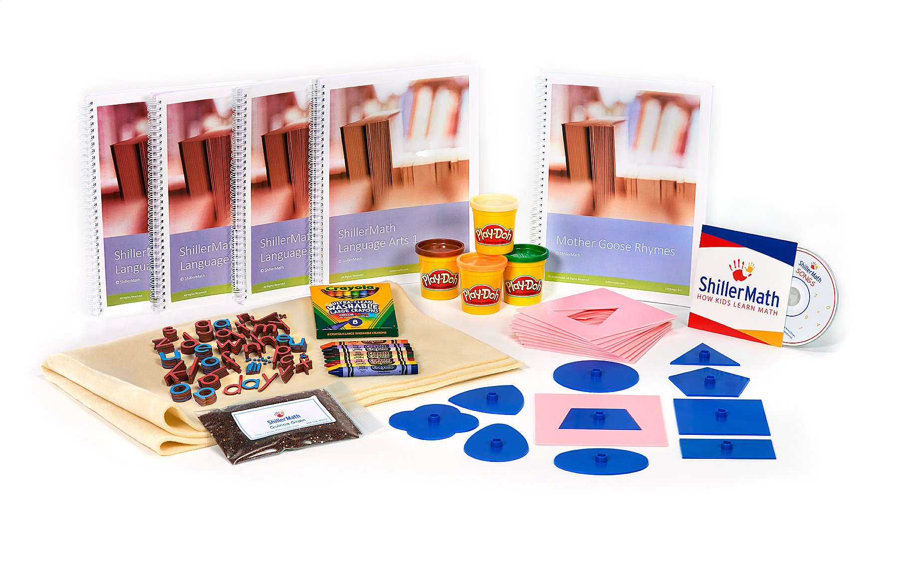 ShillerMath - Language Arts Kit A - Homeschool English Montessori Curriculum - (Ages 3-6)