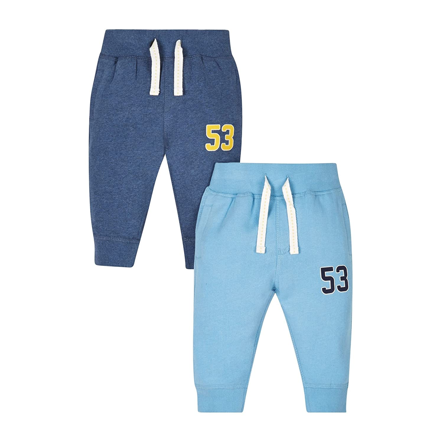 Mothercare Pantaloni Sportivi Bimbo Mothercare Blue-2 Pack Multicoloured (Multi) 12-18 Mesi MC560