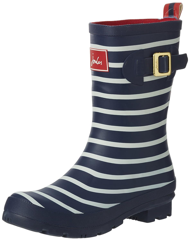 Joules Women's Molly Welly Rain Boot B076446BX3 Women's 5|French Navy Stripe