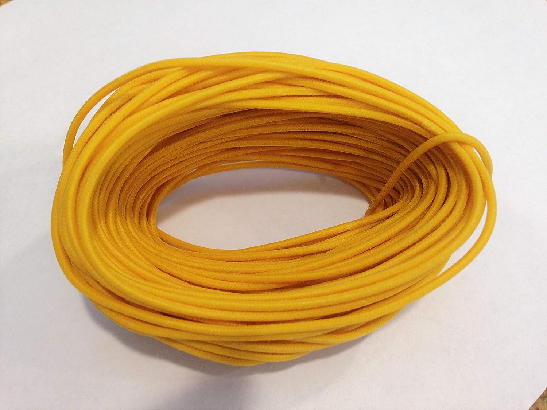 9/' of Gavitt 22 awg Cloth Covered Wire Yellow Black White for Fender Tele Strat
