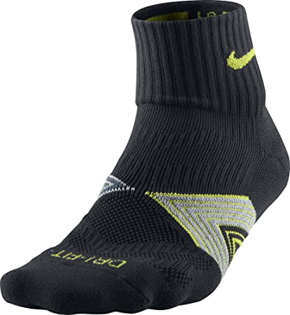 Nike One-Quarter Socks Running Dri Fit Cushioned Calcetines, Unisex Adulto, (Black