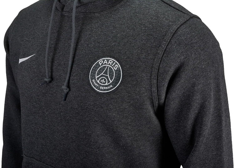 179c0651b110 Amazon.com   Nike Mens Paris Saint-Germain Core Hoodie  Black Heather   (2XL)   Sports   Outdoors