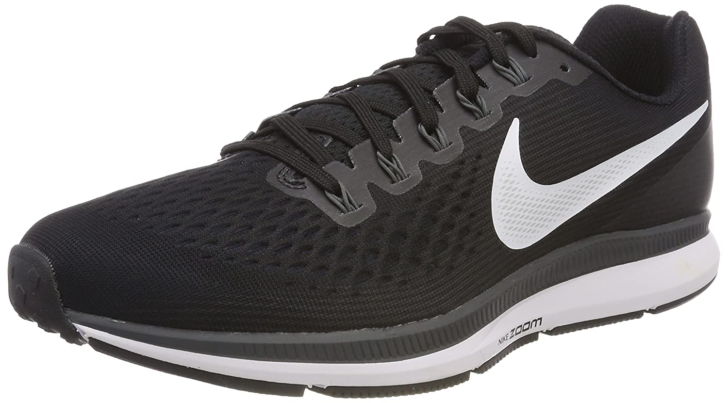 Nike Wmns Air Zoom Pegasus 34, Zapatillas de Trail Running para Mujer 35.5 EU|Negro (Black/White/Dark Grey/Anthracite 001)