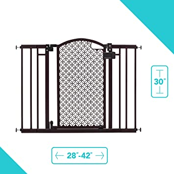 Baby Safety Gate Wood Fence Pet Walk Thru Child Door Dog Cat Protection 23 inch