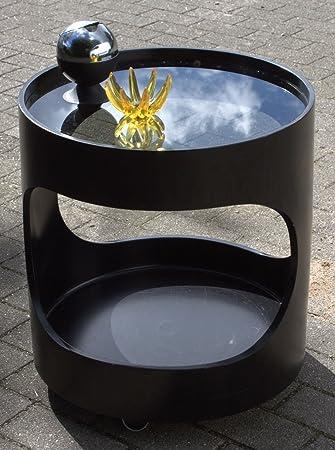 Unbekannt Tisch Beistelltisch Luna Möbel Opal Schwarz 70er 70s Space
